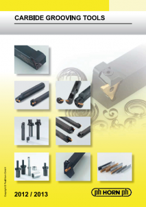 Turning Carbide Grooving Tool PHHorn Catalog Image