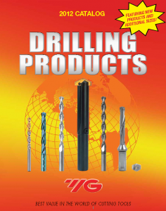 Drilling Products Catalog Image